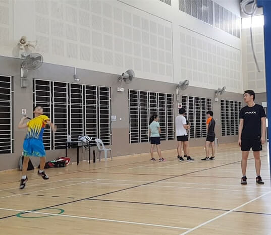 badminton class bukit batok children badminton training
