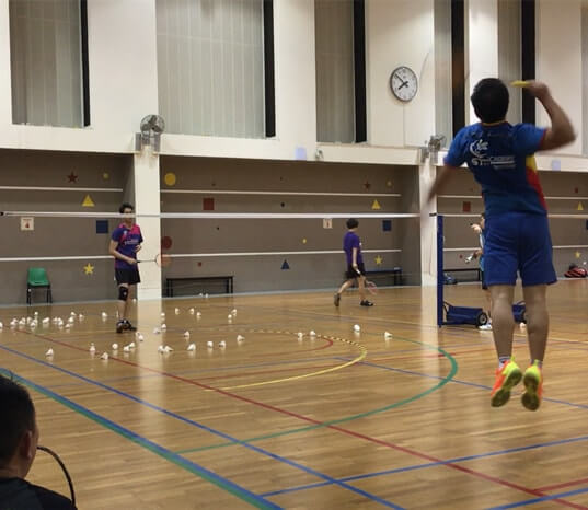 badminton class pek kio adult badminton training