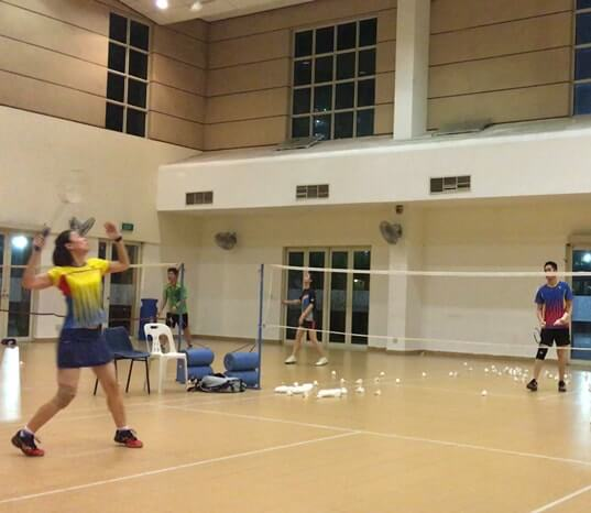 badminton training class buona vista cc