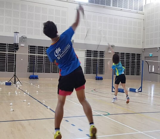 bukit batok badminton training school team