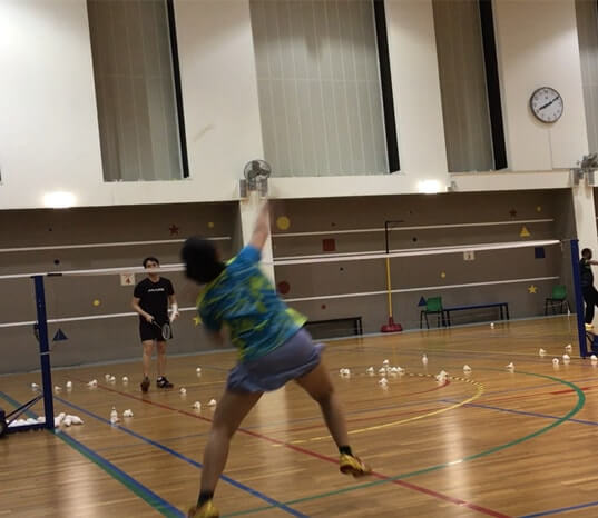 pek kio badminton training adult badminton