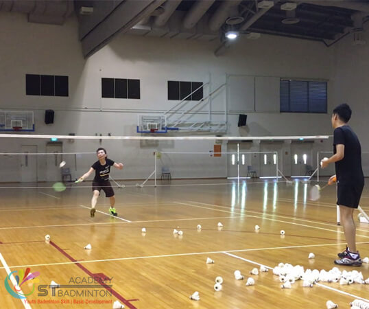 Badminton Training for poly Student at Senja Cashew CC